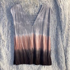 Ladies American Eagle Ombré Short Sleeve Shirt
